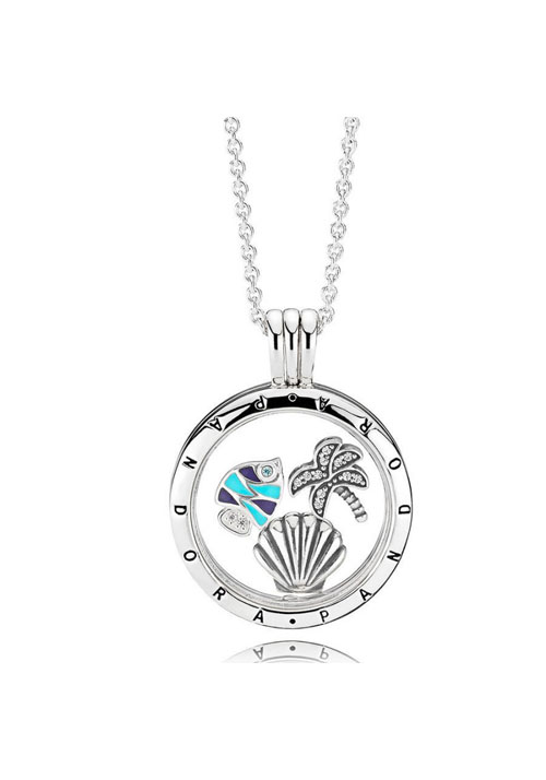Collar PANDORA LOCKET PETITES MOMENTS PARISO TROPICAL